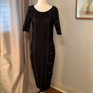 Black fitted sweater dress size medium